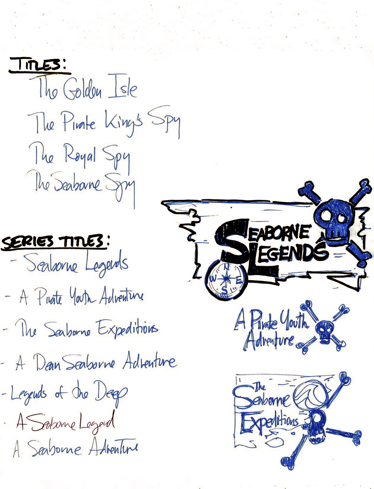 Alternate titles, series titles