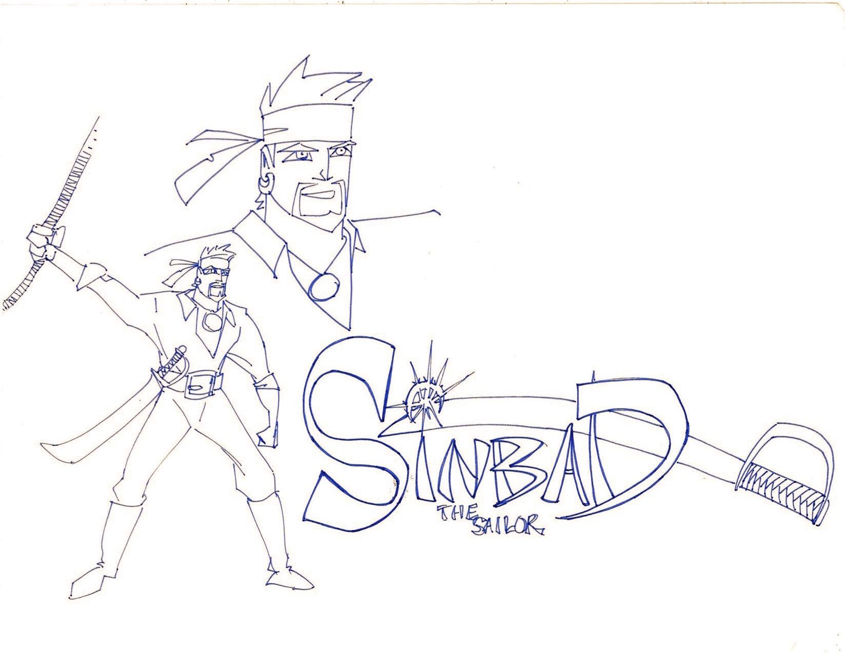 Disney animation inspired Sinbad, circa 1994